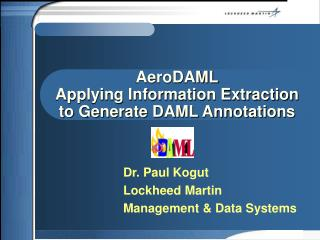 AeroDAML Applying Information Extraction to Generate DAML Annotations