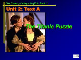 The Titanic Puzzle