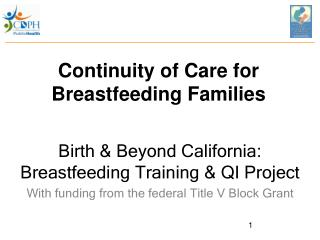 Continuity of Care for Breastfeeding Families
