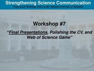 Strengthening Science Communication