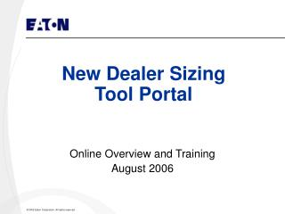 New Dealer Sizing  Tool Portal