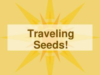 Traveling Seeds!