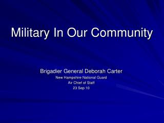 Military In Our Community