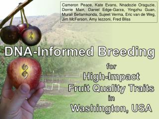 for High-Impact Fruit Quality Traits in Washington, USA