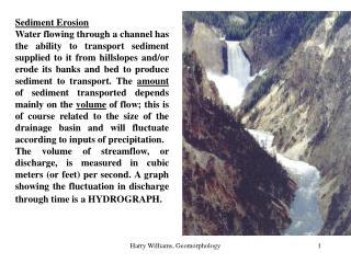 Sediment Erosion