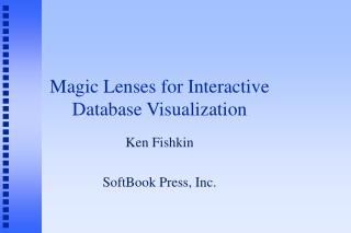 Magic Lenses for Interactive Database Visualization