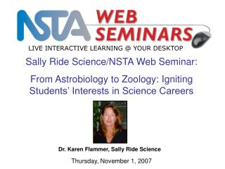 Sally Ride Science/NSTA Web Seminar: