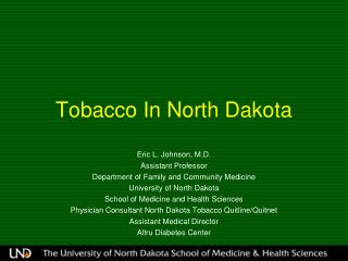 Tobacco In North Dakota