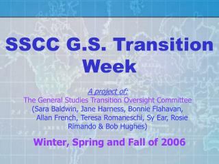 SSCC G.S. Transition Week