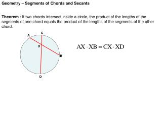 Geometry – Segments of Chords and Secants