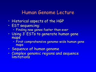 Human Genome Lecture
