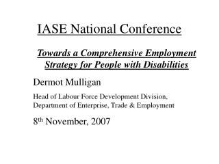 IASE National Conference