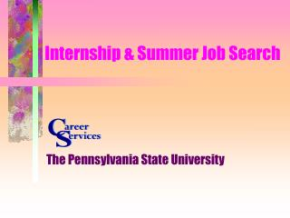 Internship & Summer Job Search
