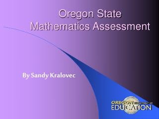 Oregon State  Mathematics Assessment