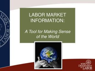 LABOR MARKET INFORMATION: A Tool for Making Sense                  of the World