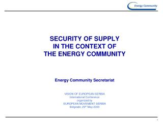 THE ENERGY COMMUNITY - BACKGROUND