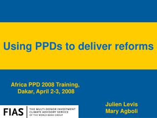 Africa PPD 2008 Training,  Dakar,