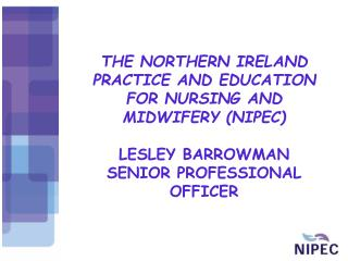 THE NORTHERN IRELAND PRACTICE AND EDUCATION FOR NURSING AND MIDWIFERY (NIPEC) LESLEY BARROWMAN