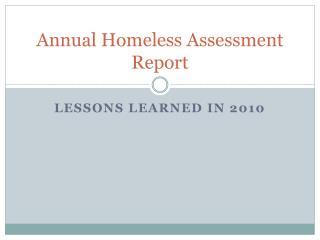 Annual Homeless Assessment Report