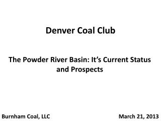 Denver Coal Club