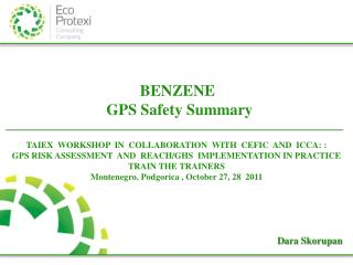 BENZENE  GPS  Safety Summary