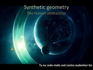Synthetic geometry