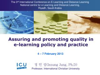 Assuring and promoting quality in e-learning policy and practice