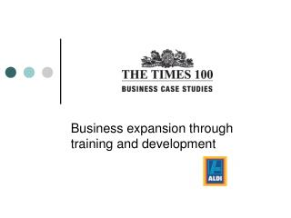Business expansion through training and development