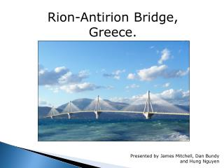 Rion-Antirion Bridge, Greece.