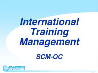 International Training Management SCM-OC