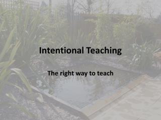 Intentional Teaching
