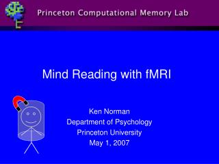 Mind Reading with fMRI