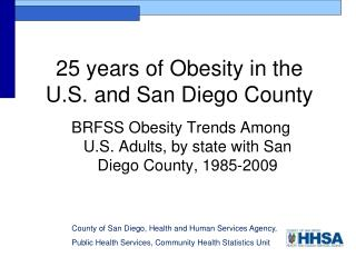 County of San Diego, Health and Human Services Agency,