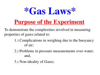 *Gas Laws*