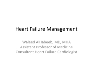 Acute Decompensated Heart Failure: Diagnosis and Management