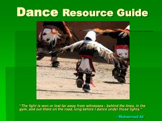 Dance  Resource Guide