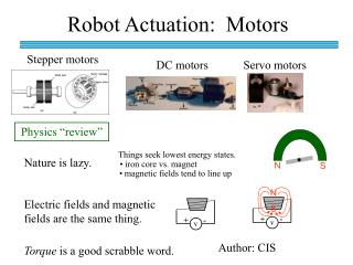 Robot Actuation:  Motors