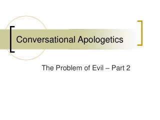 Conversational Apologetics