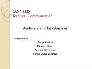 COM 3325 Technical Communication
