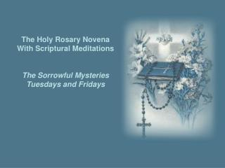 The Holy Rosary Novena With Scriptural Meditations The Sorrowful Mysteries Tuesdays  and Fridays