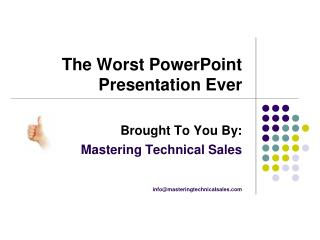 The Worst PowerPoint Presentation Ever