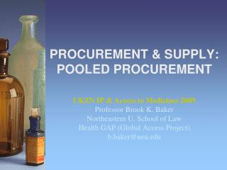 PROCUREMENT & SUPPLY: POOLED PROCUREMENT