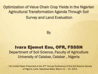 What is the Nigerian Agricultural Transformation Agenda?