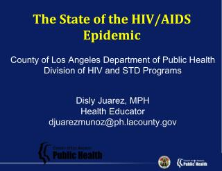 County of Los Angeles Department of Public Health  Division of HIV and STD Programs