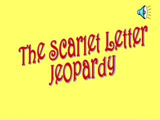 The Scarlet Letter Jeopardy