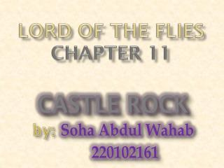 Lord of the flies chapter 11