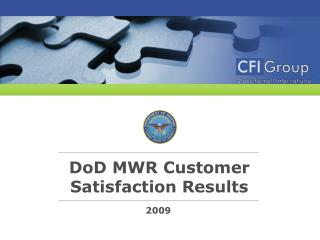 DoD MWR Customer Satisfaction Results