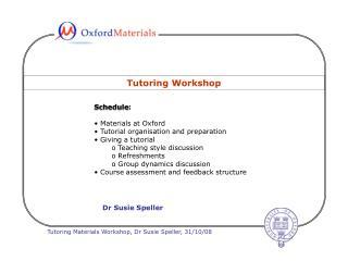 Tutoring Workshop