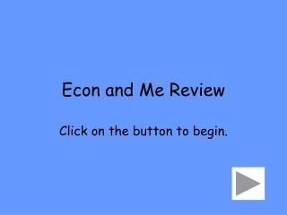 Econ and Me Review