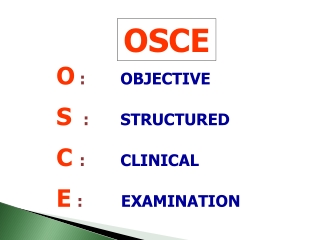 Objective Structured Clinical Examinations OSCE:   Getting Started